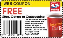 Holiday Gas Station: Free 20 oz. Coffee or Cappuccino - Christian ...