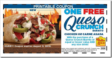 El Pollo Loco Coupon
