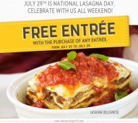 Buy One Entree, Get One Free at Romano's Macaroni Grill
