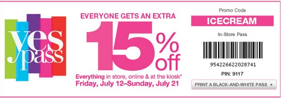 Save 15% on Everything at Kohl's