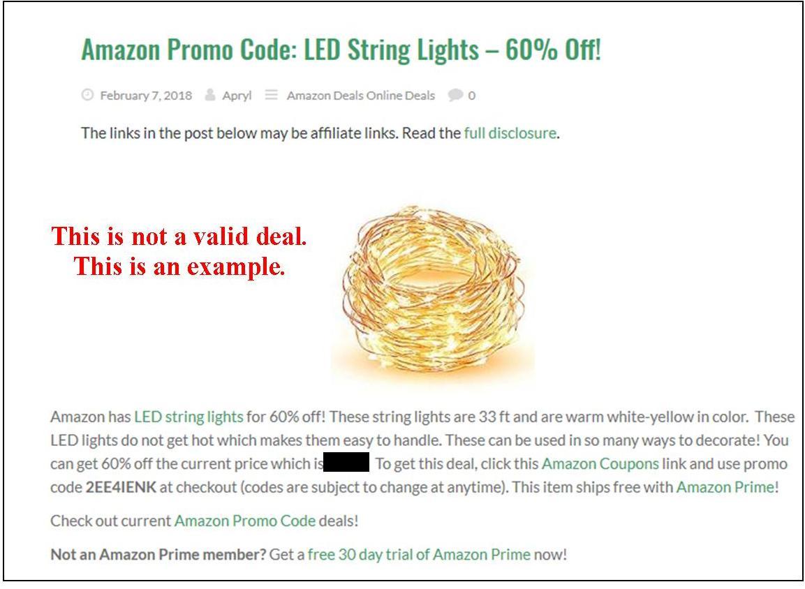 Amazon Promo Code Deal