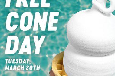 Free Soft Serve Ice Cream Cone