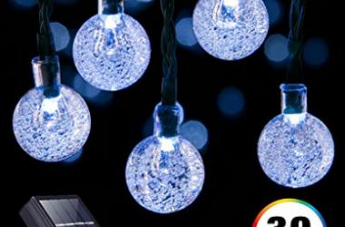 Solar Powered Globe String Lights