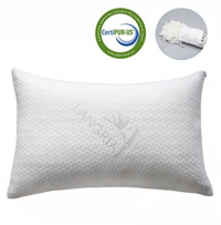 Shredded Memory Foam Pillow with Bamboo Cover